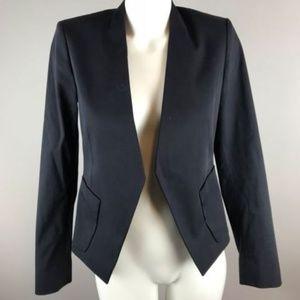 Theory Lanaz Black Long Sleeve Blazer Open Front 4